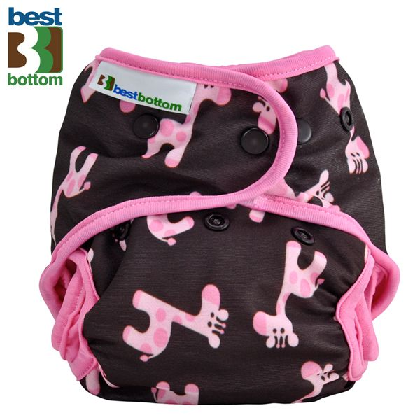 Best Bottom Diapers (PUL) Überhosen - One Size - Pinke Giraffen