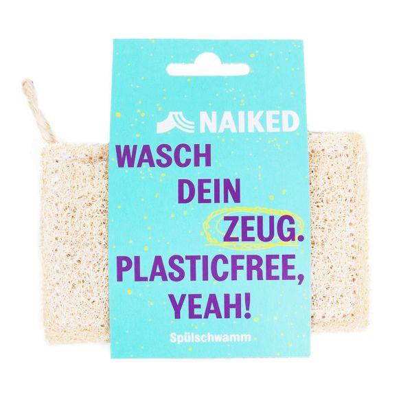 Naiked - Luffa Spülschwamm - Zero Waste (rein pflanzlich) hält ein Leben lang