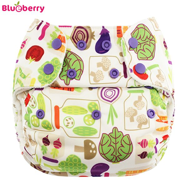 Blueberry - Deluxe Pocketwindel (AI2) - Veggies (ohne Einlagen)