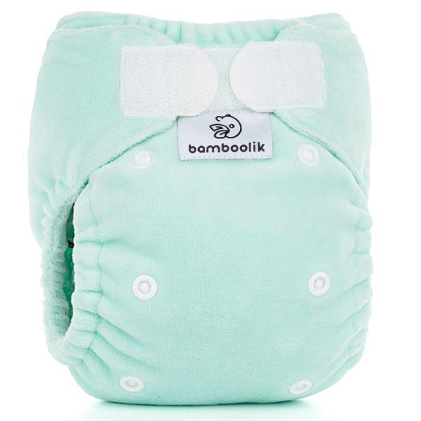 Bamboolik - DUO Höschenwindel (inkl. einer Einlage) - Newborn (2-6 kg) - Mint