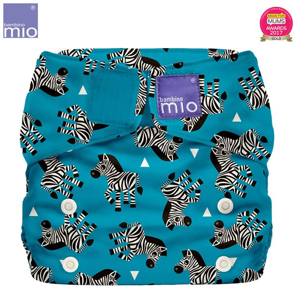 Bambino Mio - MioSolo (All-in-One) One Size Windel - Zebra Crossing