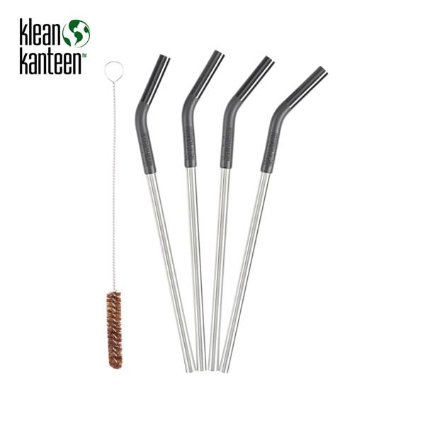 Klean Kanteen - Edelstahl-Strohhalme (4 Stück) + Reinigungsbürste