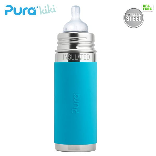 Pura Kiki ISO-Flasche - 250ml - Weithalssauger (inkl. Schutzkappe)