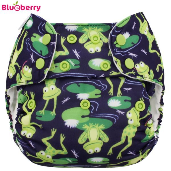 Blueberry - Deluxe Pocketwindel (AI2) - Froggies (ohne Einlagen)