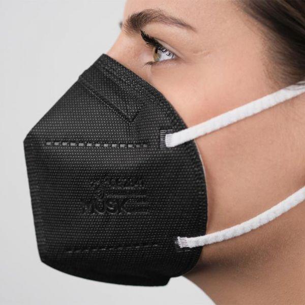 Musk - FFP2 Meltdown Atemschutz Maske CE 2163 (5 lagig) - Schwarz