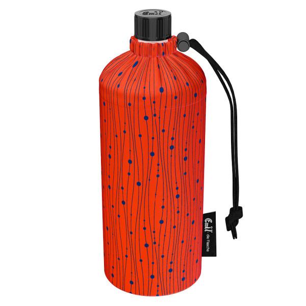 Emil die Flasche (600ml) - Komplettset (Bio-Baumwolle-Überzug) - Koralle