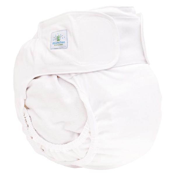Blümchen - Kinder & Erwachsenen Stoffwindel V2 (2in1-Inkontinenz-Windel) - Weiß