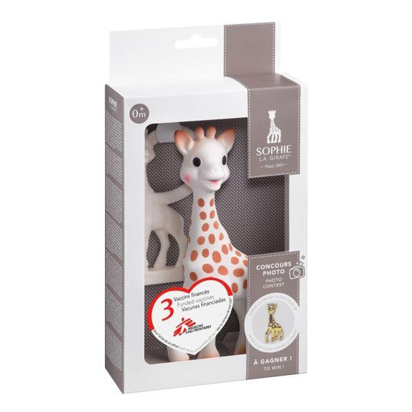 Sophie la girafe & Beißring im Geschenk-SET - 100% Naturkautschuk