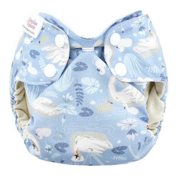 Blueberry - Simplex Newborn (AIO) - Bio-Baumwolle (GOTS) - Swans