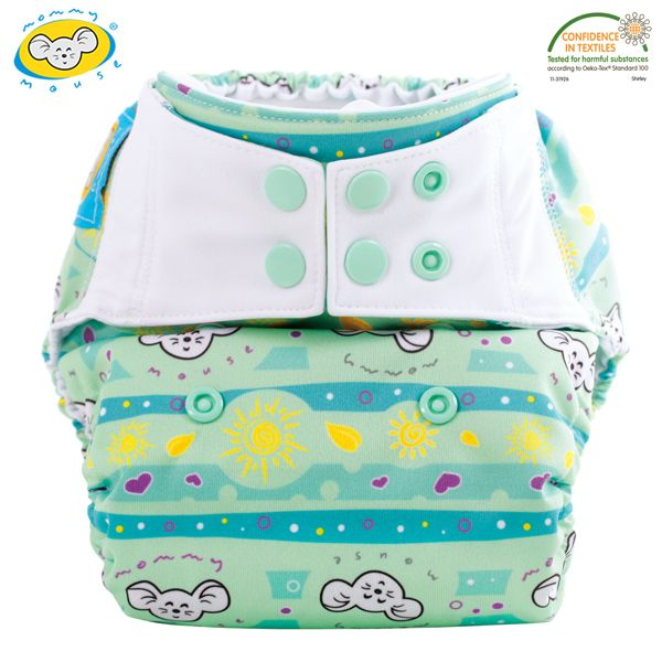 Mommy Mouse - Überhose (Newborn, One Size, XL) - Sunshine