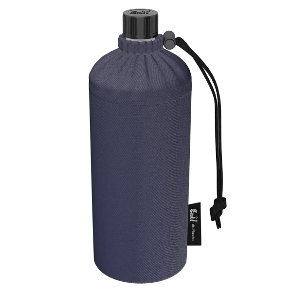 Emil die Flasche (400ml) - Komplettset (Bio-Baumwolle-Überzug) - Jeans