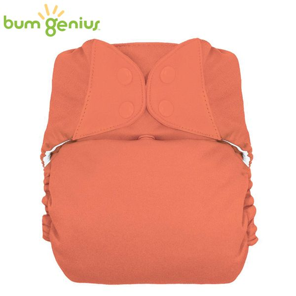 BumGenius XXL-Pocketwindel - BIG (16-32 kg) - Kiss (Orange)