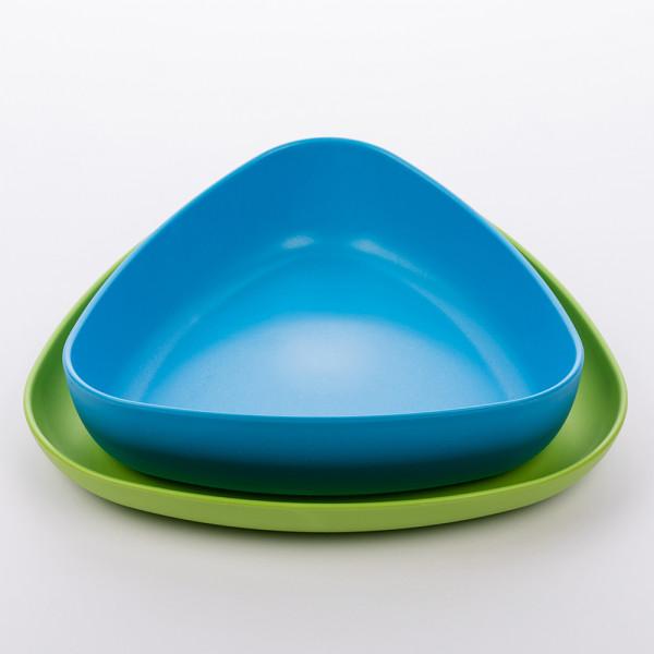 ekoala - eKkoli - Kinderteller (100% Bio-Kunststoff) biologisch abbaubar - 2 Stück