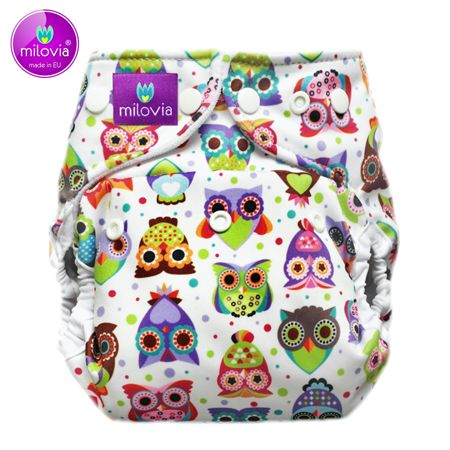 Milovia - Coolmax Pocketwindel (One Size) - Lovely Owls