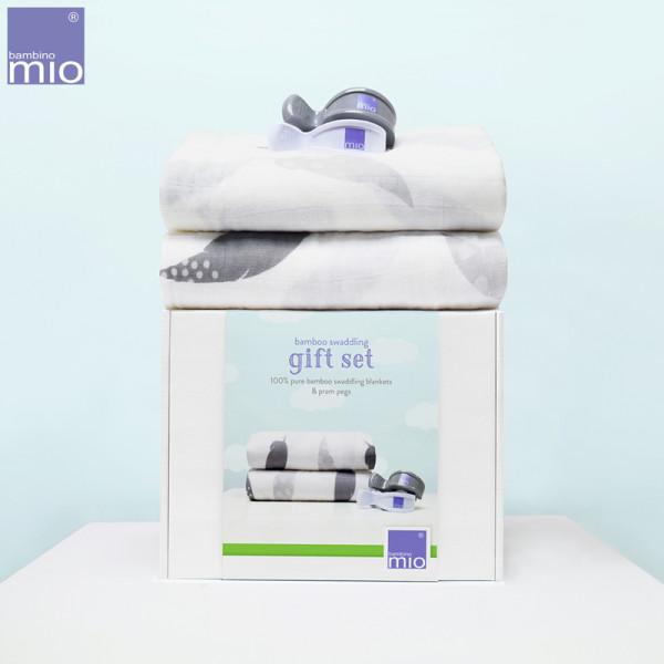 Bambino Mio - Bambus Wickeltuch Geschenk Set (Pucktuch & Kinderwagenklammern)
