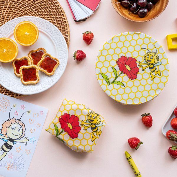 Nuts - wiederverwendbares Bienenwachstuch & Snack Bag - Biene Maja