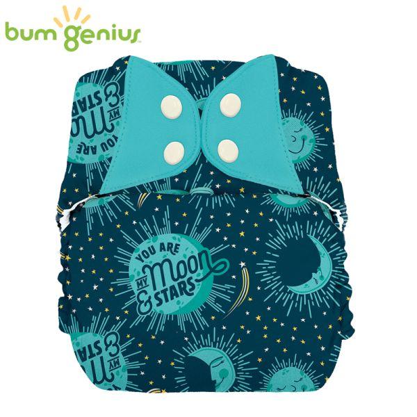 BumGenius XXL-Pocketwindel - BIG (16-32 kg) - My Moon (Muster)